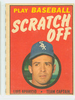 1970 Topps Scratch Off Baseball Luis Aparicio Chicago White Sox Excellent to Mint