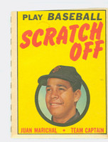 1970 Topps Scratch Off Baseball Juan Marichal San Francisco Giants Very Good to Excellent