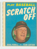 1970 Topps Scratch Off Baseball Boog Powell Baltimore Orioles Very Good to Excellent