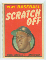 1970 Topps Scratch Off Baseball Wilie Stargell Pittsburgh Pirates Fair to Good