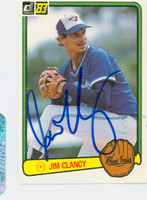 Jim Clancy AUTOGRAPH 1983 Donruss Blue Jays 