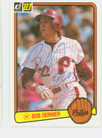 Bob Dernier AUTOGRAPH 1983 Donruss Phillies 