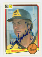 Terry Kennedy AUTOGRAPH 1983 Donruss Padres 