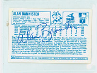 Alan Bannister AUTOGRAPH 1970s Kelloggs Back Signed 1978 White Sox 