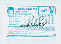 Ron Cey AUTOGRAPH 1970s Kelloggs Back Signed 1977 Dodgers 