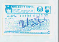 Mark Fidrych AUTOGRAPH d.09 1970s Kelloggs Back Signed 1977 Tigers 