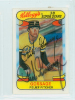 Rich Gossage AUTOGRAPH 1970s Kelloggs 1978 Pirates 