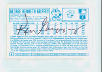 Ken Griffey AUTOGRAPH 1970s Kelloggs Back Signed 1978 Reds 