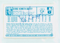 Ken Griffey AUTOGRAPH 1970s Kelloggs Back Signed 1977 Reds 