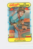 Tom Johnson AUTOGRAPH 1970s Kelloggs 1978 Twins 