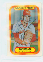 Fred Norman AUTOGRAPH 1970s Kelloggs 1977 Reds 
