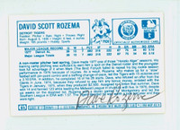 Dave Rozema AUTOGRAPH 1970s Kelloggs Back Signed 1978 Tigers 