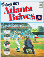 1971 Dell Official Stamp Booklet Atlanta Braves Near-Mint