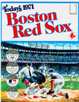 1971 Dell Official Stamp Booklet Boston Red Sox Near-Mint to Mint