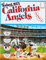 1971 Dell Official Stamp Booklet California Angels Near-Mint