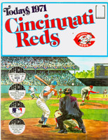 1971 Dell Official Stamp Booklet Cincinnatti Reds Very Good to Excellent