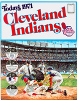 1971 Dell Official Stamp Booklet Cleveland Indians Near-Mint Plus