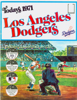 1971 Dell Official Stamp Booklet Los Angeles Dodgers Near-Mint