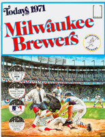 1971 Dell Official Stamp Booklet Milwaukee Brewers Excellent to Mint
