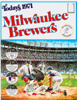 1971 Dell Official Stamp Booklet Milwaukee Brewers Near-Mint