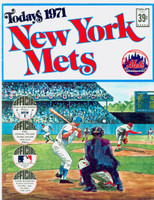 1971 Dell Official Stamp Booklet New York Mets Near-Mint