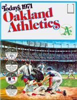 1971 Dell Official Stamp Booklet Oakland Athletics Near-Mint