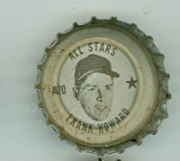 1967 Coke Caps All-Stars 20 Frank Howard Washington Senators Excellent to Excellent Plus