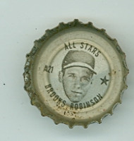 1967 Coke Caps All-Stars 21 Brooks Robinson Baltimore Orioles Excellent to Excellent Plus