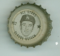 1967 Coke Caps All-Stars 22 n Claude Osteen Los Angeles Dodgers Excellent to Mint