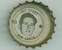 1967 Coke Caps All-Stars 23 n Ron Santo Chicago Cubs Excellent to Mint