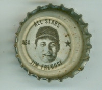 1967 Coke Caps All-Stars 24 Jim Fregosi California Angels Excellent to Mint