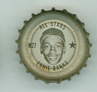 1967 Coke Caps All-Stars 27 n Ernie Banks Chicago Cubs Excellent to Excellent Plus