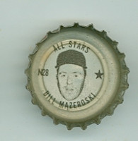 1967 Coke Caps All-Stars 28 n Bill Mazeroski Pittsburgh Pirates Near-Mint