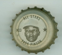 1967 Coke Caps All-Stars 33 n Vada Pinson Cincinnati Reds Excellent to Mint