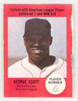 1968 Atlantic Oil George Scott Boston Red Sox Fair to Good