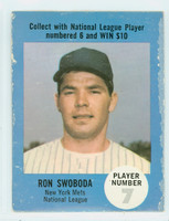1968 Atlantic Oil Ron Swoboda win $8  New York Mets Fair to Good