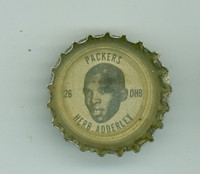 1964 Coke Football Packers 17 Herb Adderley Green Bay Packers Very Good