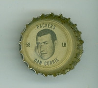 1964 Coke Football Packers 19 Dan Currie Green Bay Packers Good to Very Good