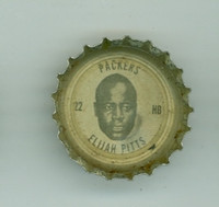 1964 Coke Football Packers 21 Elijah Pitts Green Bay Packers Excellent