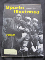 1960 Sports Illustrated October 24 Football Violence Good to Very Good [Creasing on cover - contents fine]