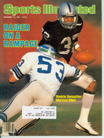 1982 Sports Illustrated December 13 Marcus Allen Excellent