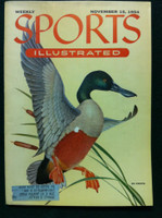 1954 Sports Illustrated November 15 Spoonbill Duck Excellent to Mint