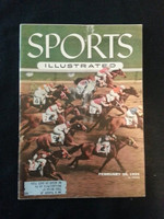 1955 Sports Illustrated February 28 Hialeah Park Fair to Good tear on cover, sm piece missing