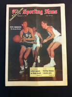 1970 Sporting News February 14 Pete Maravich LSU Excellent to Mint lt. center fold from mailbox, otherwise sharp