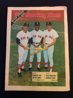 1970 Sporting News April 11 Yaz, Tony C and Reggie Smith Excellent to Mint lt. center fold from mailbox, otherwise sharp