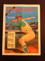 1970 Sporting News April 25 Bert Campaneris Excellent to Mint lt. center fold from mailbox, otherwise sharp