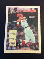 1970 Sporting News September 12 Bernie Carbo Excellent lt. center fold from mailbox, otherwise sharp