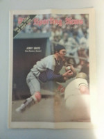1971 Sporting News June 12 Jerry Grote Excellent to Mint lt. center fold from mailbox