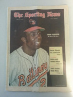 1971 Sporting News July 31 Frank Robinson Excellent to Mint lt. center fold from mailbox