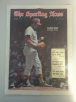 1971 Sporting News October 2 Wilbur Wood Excellent to Mint lt. center fold from mailbox